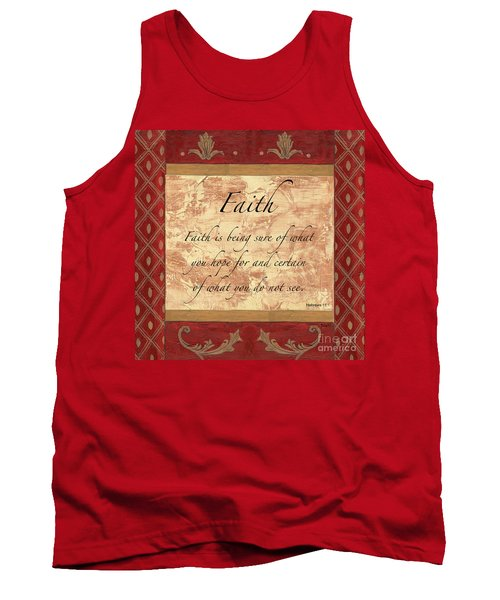 Red Traditional Faith Tank Top