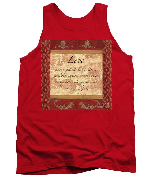 Red Traditional Love Tank Top