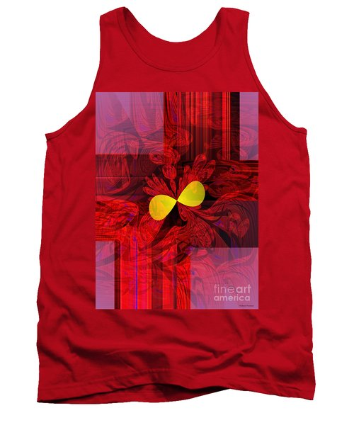 Red Transparency Tank Top by Thibault Toussaint