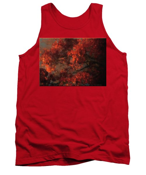 Red Tree Scene Tank Top by Mikki Cucuzzo