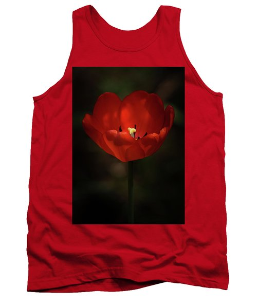 Red Tulip Tank Top by Ernie Echols