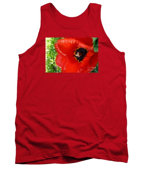 Tank Top featuring the photograph Red Tulip by Jean Bernard Roussilhe