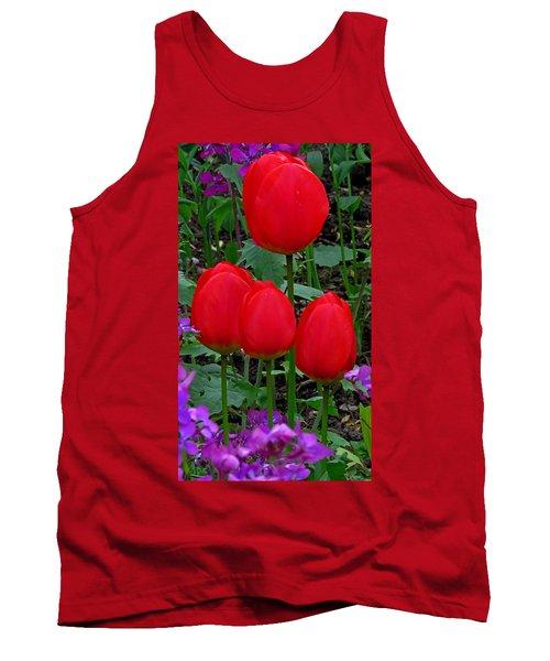 Red Tulips Tank Top by John Topman