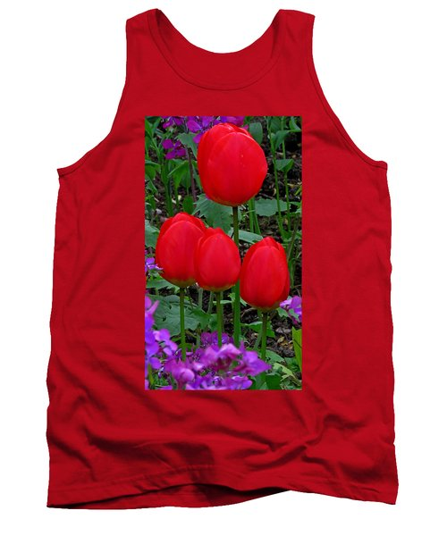 Red Tulips Tank Top