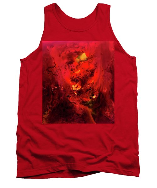 Red Universe Tank Top