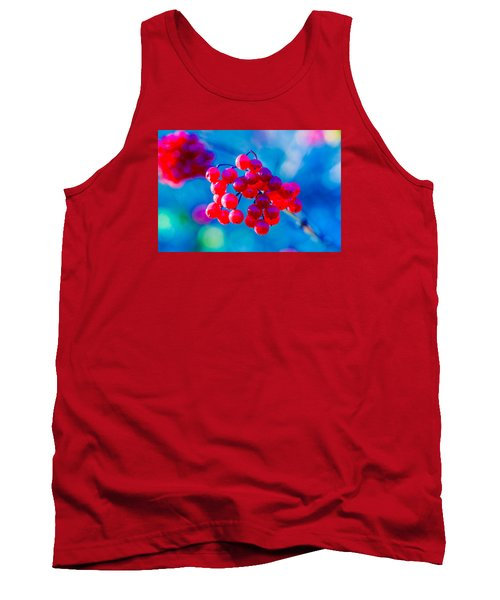 Tank Top featuring the photograph Red Viburnum Berries by Alexander Senin