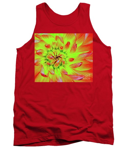 Red Whirl Tank Top