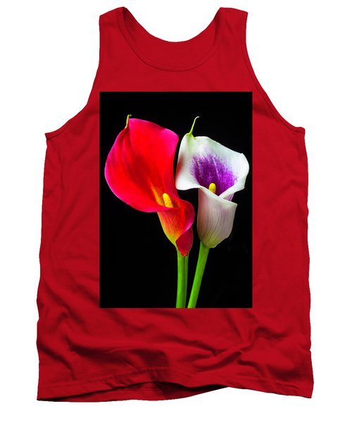 Red White And Purple Calla Lilies Tank Top