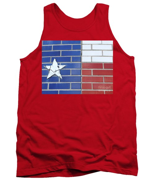 Red White Blue With Star Tank Top by Erick Schmidt