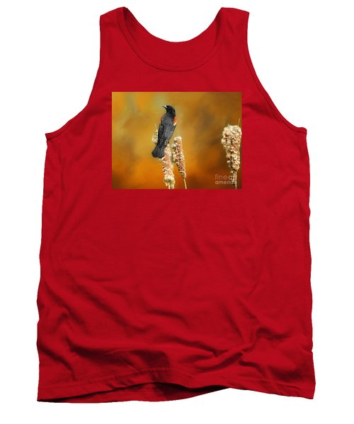 Red Winged Blackbird Tank Top by Suzanne Handel