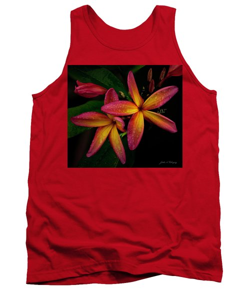 Red/yellow Plumeria In Bloom Tank Top