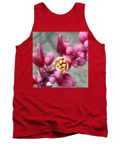 Red Yucca Macro Tank Top by Russell Keating