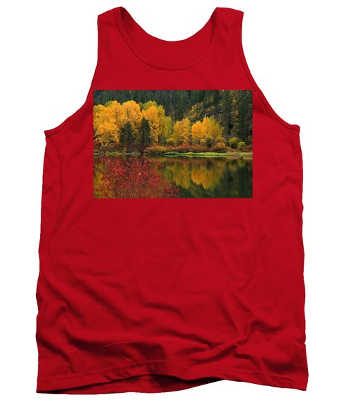 Reflections Of Fall Beauty Tank Top by Lynn Hopwood