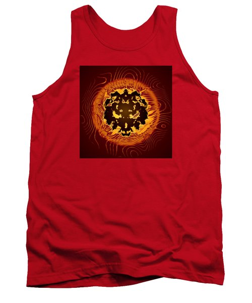 Tank Top featuring the digital art Resident Evil by Mario Carini
