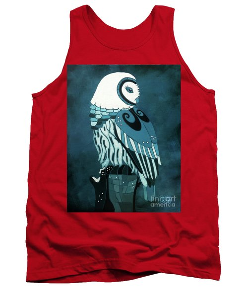 Retrospect In The Moonlight Owl Tank Top