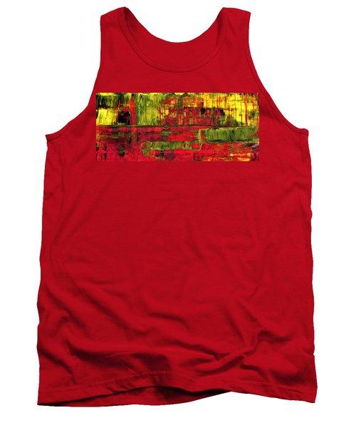Summer Rain  - Abstract Colorful Mixed Media Painting Tank Top