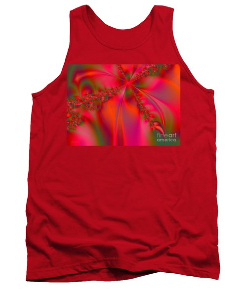 Rhapsody In Red Tank Top by Robert ONeil