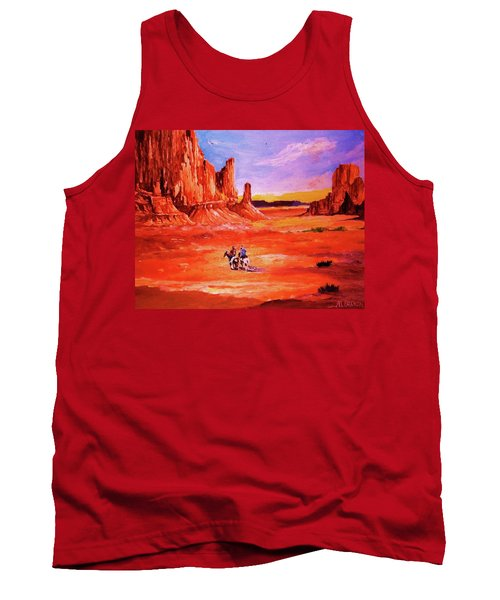 Riders In The Valley Of The Giants Tank Top