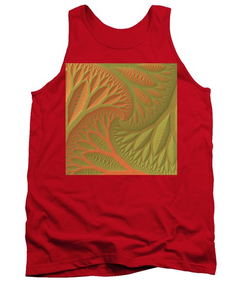 Tank Top featuring the digital art Ridges And Valleys by Lyle Hatch