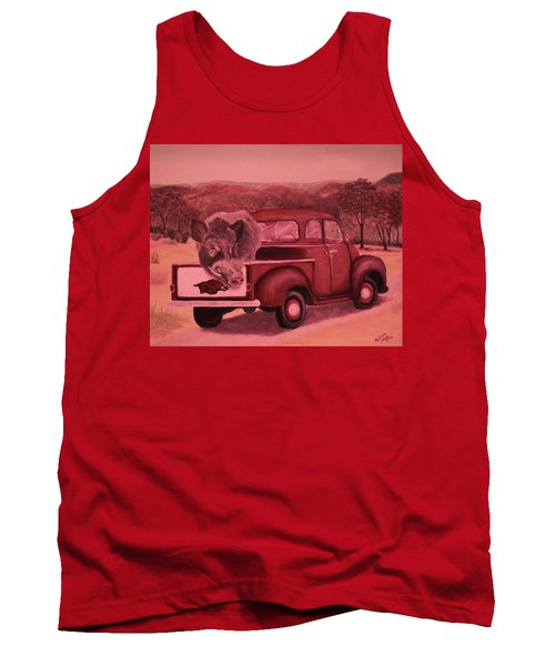 Ridin' With Razorbacks 3 Tank Top by Belinda Nagy