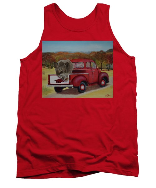 Ridin' With Razorbacks Tank Top by Belinda Nagy