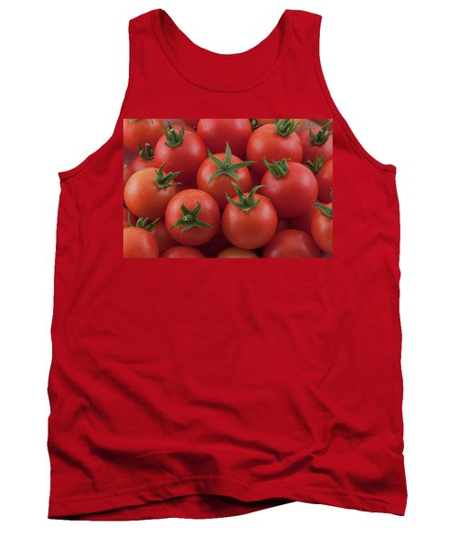 Tank Top featuring the photograph Ripe Garden Cherry Tomatoes by James BO Insogna