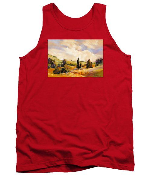 Tank Top featuring the painting Rising Heat by Rae Andrews