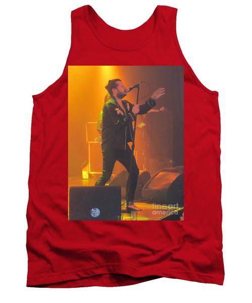 Tank Top featuring the photograph Rival Sons Jay Buchanan by Jeepee Aero