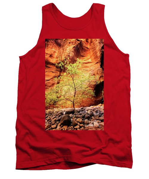 Tank Top featuring the photograph Rock Tree by Scott Kemper