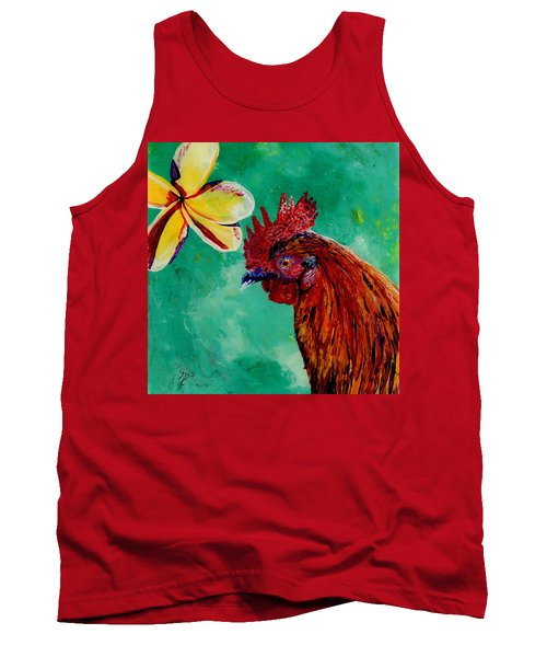 Rooster And Plumeria Tank Top