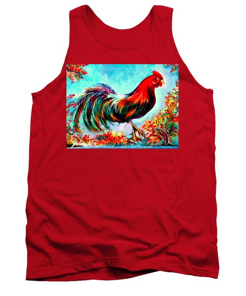 Tank Top featuring the painting Rooster/gallito by Yolanda Rodriguez