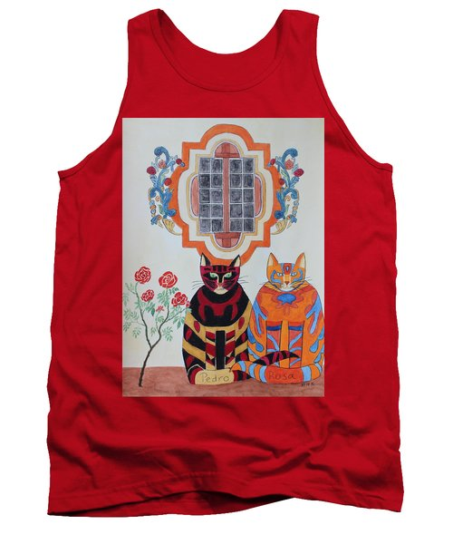 Rosa And Pedro Of The Rose Window Of Mission San Jose Tank Top