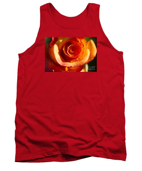 Tank Top featuring the photograph Rose Glow by Jeanette French