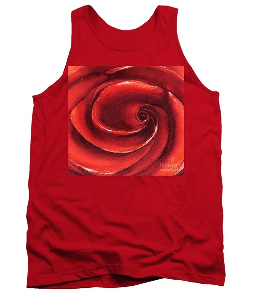 Tank Top featuring the painting Rose In Stone by Allison Ashton