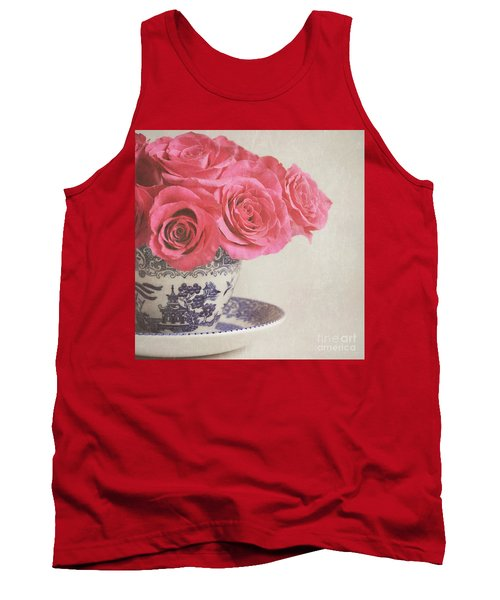 Tank Top featuring the photograph Rose Tea by Lyn Randle