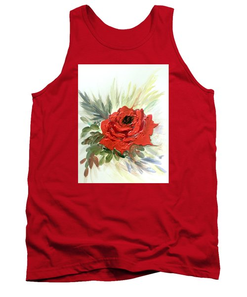 Tank Top featuring the painting Roses Are Red by Dorothy Maier