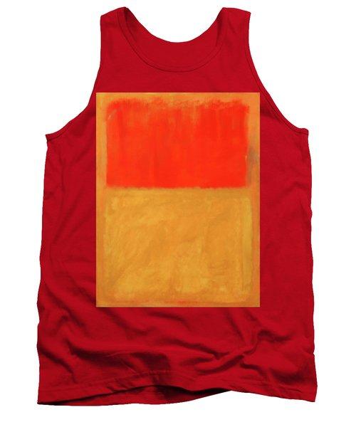 Rothko's Orange And Tan Tank Top