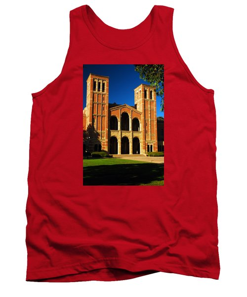 Tank Top featuring the photograph Royce Hall Ucla by James Kirkikis