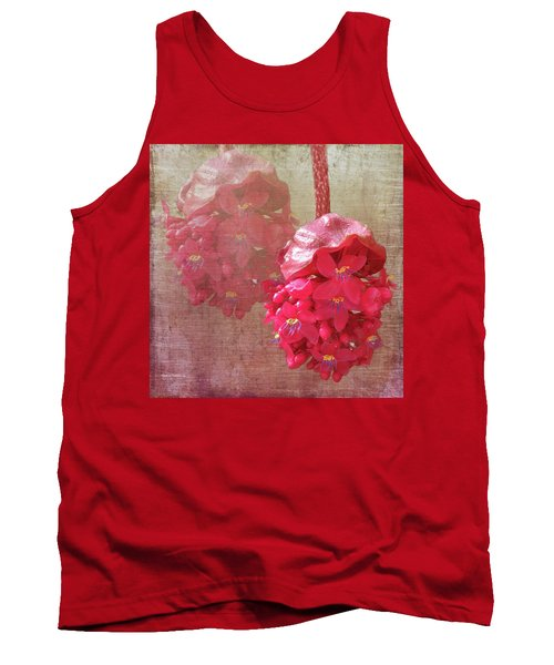 Ruby Colored Orchid Tank Top by Rosalie Scanlon