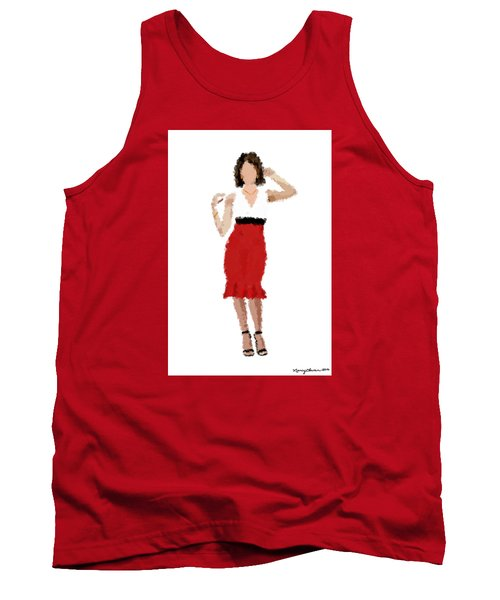 Tank Top featuring the digital art Ruby by Nancy Levan