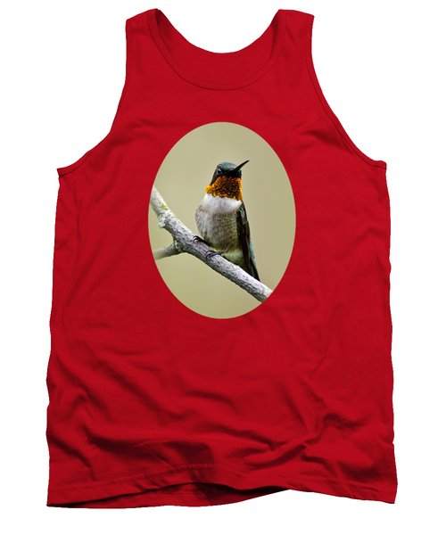 Tank Top featuring the photograph Hummingbird Portrait by Christina Rollo