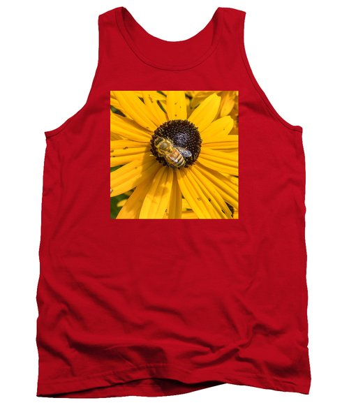 Rudbeckia With Bee Tank Top