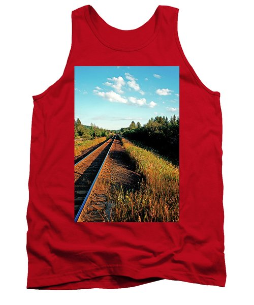 Rural Country Side Train Tracks Tank Top