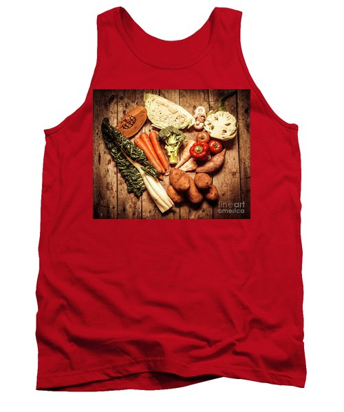 Rustic Style Country Vegetables Tank Top
