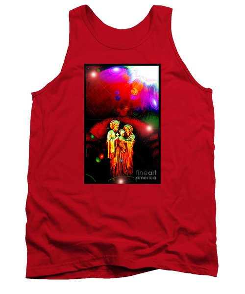 Tank Top featuring the photograph Sacred Family In Cosmos by Susanne Still
