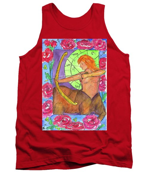 Tank Top featuring the painting Sagittarius by Cathie Richardson