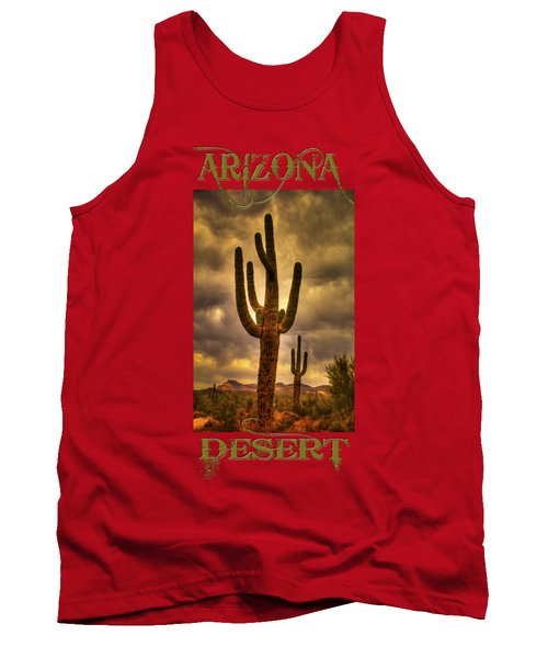 Saguaros On The Sonoran Late Afternoon Tank Top