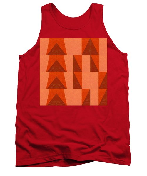 Salmon With Red And Brown Tank Top by Michelle Calkins