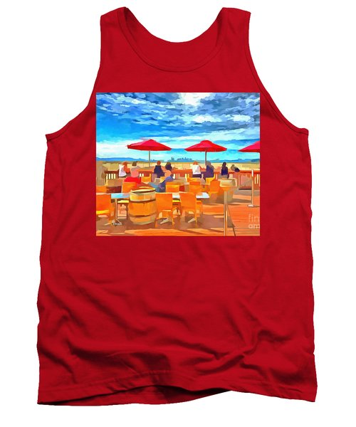 San Francisco Skyline From Alameda  Tank Top by Linda Weinstock