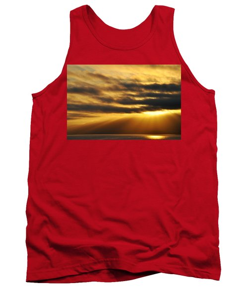 Tank Top featuring the photograph Santa Monica Golden Hour by Kyle Hanson